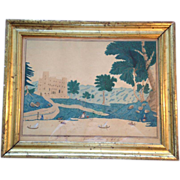 Watercolor Ink and Pencil by Louisa C. Griffin 1810-1905 American of Lulworth Castle in ...
