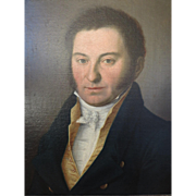 SALE Portrait in oil of a Gentleman, circa 1805