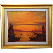 """Oil Painting by artist Nunzio Vayana (1878 - 1960), """"Lost Colony"""" artist, depicting"""