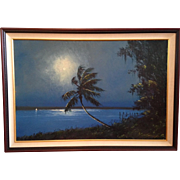 Oil Painting by artist R. A. McLendon, one of the Florida Highwaymen