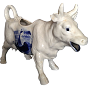 Antique Dutch Delft Cow Creamer