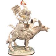 """Charming Hutschenreuther Selb Porcelain Figurine Titled """"The Town Musicians of Bremen"""""""