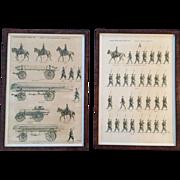 "SALE Pair of ""Jean Auge"" Military Prints Depicting ""L'Armee Francaise D'Aout 19"