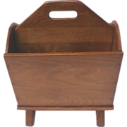 Cushman Colonial Maple Magazine Stand Holder Rack
