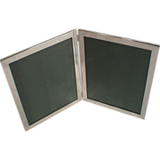 Web Sterling Silver Large Double Easel Frame Pair 8x10 Photograph Frames Hinged Together ...