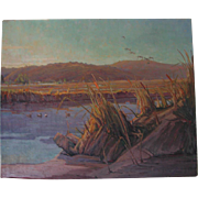 Luther Evans DeJoiner California Landscape Painting 28x34 Listed