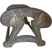 Judd Art Nouveau Maidens Book Rack Bookends C.1920