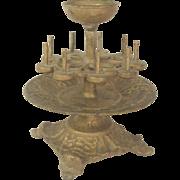 SOLD Victorian Cast Iron Sewing Thread Spool Pincushion Holder C.1870