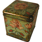 Art Nouveau Japanese Tea Tin with Roses C.1910