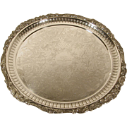 """Wallace Baroque Silver Plate Serving Tray 18"""""""