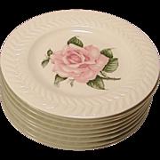"Theodore Haviland Regents Park Rose 9  Cake -Salad Plates 8"" New York C.1940"