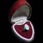 Ravishing Antique Edwardian 9ct Rose Gold & Fiery Opal Ring