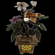 Vintage Chinese Hard-stone Flowers