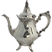 Baroque Silver Plate Teapot by Wallace