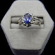 REDUCED 14 Karat Tanzanite and Diamond Ring