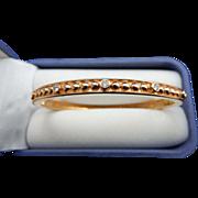 REDUCED Estate 14 karat Rose Gold and Diamond Bangle Bracelet