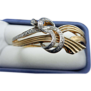 REDUCED 14 Karat Estate Diamond Bangle Bracelet