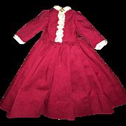 Wonderful Old Scarlet Fancy Doll Dress