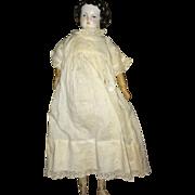 Antique German Civil War Era Doll With Wooden Limbs