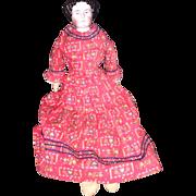 Antique German Civil War Era China Head Doll