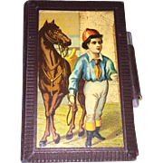 Antique Victorian German Lithograph Sketching Notepad Fashion Doll Accessory