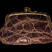 Antique Miniature Alligator Snap Shut Change Purse
