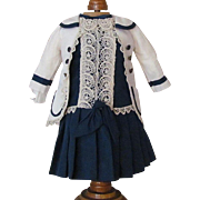 SALE Sale! Beautiful Dress, Jacket fits 17 inch (43cm) Doll  French Bebe Jumeau SFBJ Steiner .