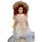 "White Batist Dress with Matching Petticoat Hat, fits 22-23"" French Bebe or German Doll"