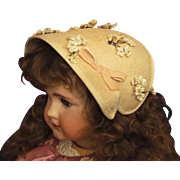 """Vintage Bonnet Hat fits 25""""-29"""" French or German Doll with head circum. 14""""-17"""""""