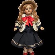 "Sale! 19"" German Doll by Handwerck Mold 99 in very lovely Mariner Costume.  Layaway!"