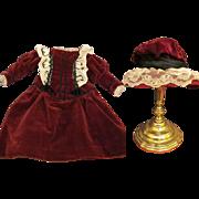 SALE Sale! Dress, Hat, undergarments  fits 19-20 inches Doll  French Bebe Jumeau SFBJ Steiner