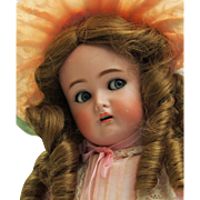 "19 1/2"" Kammer * Reinhardt Adorable German Flirty Child Doll with sleep blue eyes, Origin"