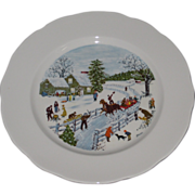 Set of 4 Grandma Moses 12 in charger plates