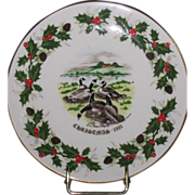 Royal Grafton Fine China plate Twelve Days of Christmas SIX GEESE A LAYING