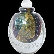 SALE Vintage , 1988,  Eickholt, hand blown scent bottle.
