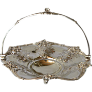 SALE A Victorian silver-plated swing-handled fruit or cake basket, 1865c.