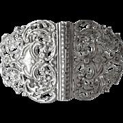 SALE Victorian sterling silver buckle, London 1893.