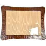 SALE Crocodile skin covered photograph frame, 1925 - 1950.