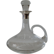 SALE A ship's decanter with a handle  & sterling silver (925) mount, 1985c.