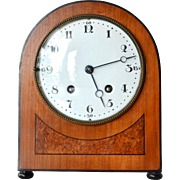 SALE Early Art Deco cottage desk clock, Lenzkirch Clock Factory, Lenzkirch, Germany, 1917-1918