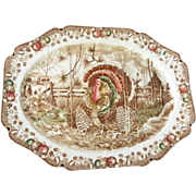 SALE Turkey platter, ' His Majesty,' Johnson Bros., England, mid 20th century.