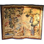 SALE A Belgian hand woven tapestry panel depicting an exotic bird , early 20th century.