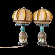 SALE A pair of Plateelbakkerij Zuid-Holland, Gouda pottery Moorish pattern vases, 1923.