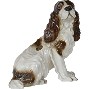 SALE A Goldscheider ( Wien ) , 'made in Germany,' seated Spaniel dog,1938c.