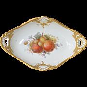 SALE A K.P.M. porcelain  fruit bowl AND six plates, 19th century.