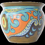 SALE Gouda earthenware small vase, Holland, 1920s.
