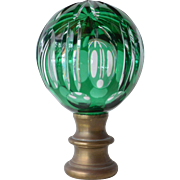 SALE Glass finial for a newel post, late 19th century.