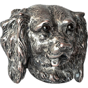SALE A dog's head brooch, late 19th. century.