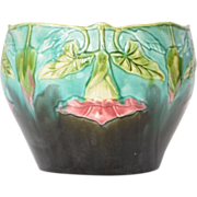 SALE Jardiniere/Cache Pot, Orchies, Majolica, French, 1920.