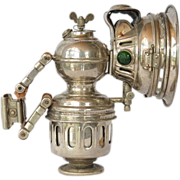 SALE Bicycle/motorcycle carbide lamp, German, early 1900s.